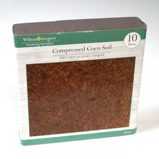 Compressed Coco Fiber Coir Potting Soil 10 L Liters - Just add water!