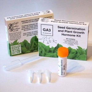 GA3 Gibberellic Acid Seed Germination and Plant Growth Hormone Kit